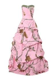 camo wedding dresses white and pink camouflage bridal gowns for