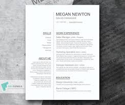 Clean Resume Template Unique Free Classic Conservative Plain And Simple CV Resume Template In