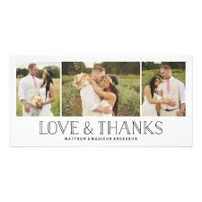 wedding thank you cards & invitations zazzle co uk Wedding Thank You Bunting Uk love & thanks boho wedding thank you photo card Succulent Thank You Bunting