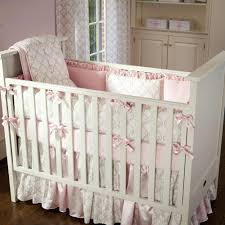 girl nautical crib bedding pink and taupe damask carousel baby set