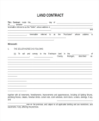 Land Contract Purchase Agreement Template Building Commercial ...