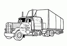 This list of truck types is intended to classify trucks and to provide links to articles on the various types. Semi Truck Coloring Pages For Kids Drawing With Crayons