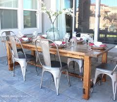 diy outdoor farmhouse table. Diy Outdoor Farmhouse Table E