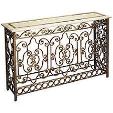iron console table. Butler Contessa Metalworks Wrought Iron Console Table
