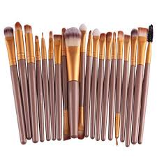 <b>20Pcs Professional Makeup Brush</b> Cosmetic Synthetic Hair Brushes ...