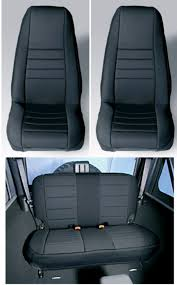 jeep seat upholstery kits new jeep wrangler tj 1997 02 neoprene black front and rear seat