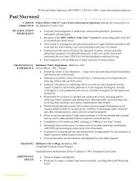 Police Officer Resume Templates Awesome Beginner Resume No