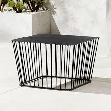 Wire furniture Iron Wire Cb2 Black Wire Coffee Table Reviews Cb2