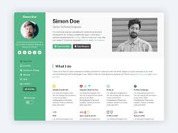 Devcard Vcard Portfolio Template For Software Developers By