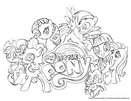 Small Picture Image My Little Pony Friendship Is Magic Coloring Pages 25 For