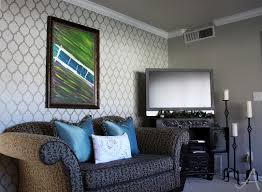 Accent Wall In Living Room living room accent wall with cutting edge stencils ask anna 7865 by guidejewelry.us