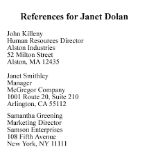 what you should know about job referenceshow to create a reference lists  reference list example