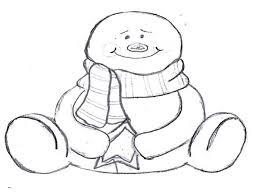 Template Of A Snowman Let It Snow Snowman Template The Bearfoot Baker