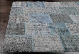 vintage patchwork overdyed blue wool rug 19051