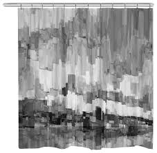black and white shower curtains. Laural Home - Gray Glacier Shower Curtain Curtains Black And White T