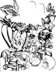 Disney Dessin Alice Pays Merveilles Retour En Enfance Disney Coloriage Adulte L