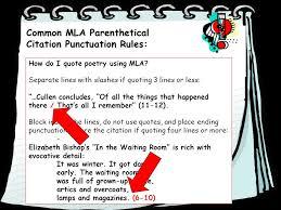 mla poem citation parenthetical mla citation of textual evidence ppt video online
