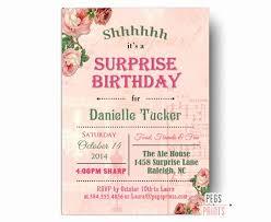 Surprise Birthday Party Invitation Template Wilkesworks