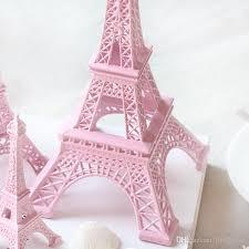 2016 new romantic pink paris 3d eiffel tower model alloy eiffel tower metal craft for wedding