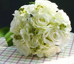 Heb Corsages 26cm White Bouquet Artificial Cascading Silk Wedding Bride Holding Flowers Rose Flower With Green Leaf New Heb Wedding Flowers Ivory Wedding Flowers