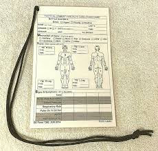 Dd form 1380, tactical combat casualty care (tccc) card [formerly: Tactical Combat Casualty Care Card Ifak Swat Medic Tccc Tems Triage La Everything Under The Sun Vtg