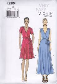 Wrap Dress Sewing Pattern Adorable Vogue Very Easy Sewing Pattern Wrap Dress Close Fitting Bias Bodice
