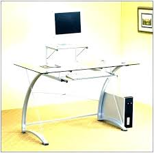 glass top desk small computer with black ikea uk