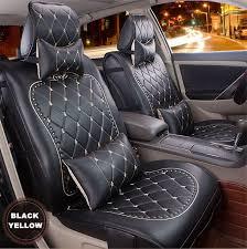 High Quality <b>Luxury</b> Danny Leather <b>Car Seat Cover</b> Universal Cute ...