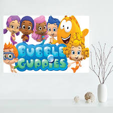 >nice custom bubble guppies canvas poster print painting art wall  nice custom bubble guppies canvas poster print painting art wall silk poster cloth print fabric poster in painting calligraphy from home garden on