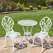 white iron patio furniture. White Patio Bistro Set. Furniture Iron R