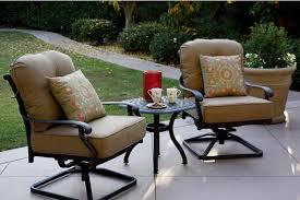 patio furniture cast aluminum deep seating rocker set swivel club chair 3pc santa monica