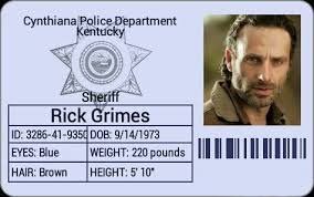 Badge~ Deviantart Rick Police Grime's By Ladyevel On