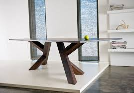 decoration dining room immaculate unfinished wooden base modern dining table with unique style on