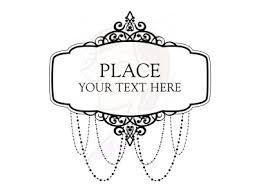 chandelier clipart vintage frame 1 black ornate png82 black
