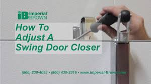 How to Adjust a Swing Door Closer on a Walk-in Cooler - YouTube
