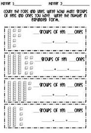 Tens Chart Math Tens And Ones Anchor Chart First Grade Google Search