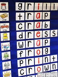 Miss Giraffes Class How To Organize Phonics Pocket Chart