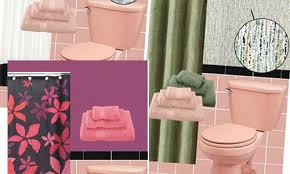 get pink and black bathroom designs png
