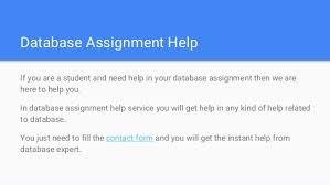 database homework help database assignment help database homework h  database assignment