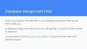 database homework help database assignment help database homework h database assignment