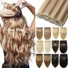Details about 100% New Clip in hair <b>extension Curly Straight</b> Black ...