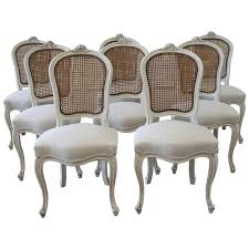 french cane chair. Antique French Chairs Set Of Eight Vintage Painted Cane Back Dining At 1stdibs Chair