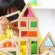 wooden toys toddler rainbow blocks