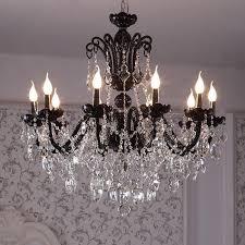 12 arm vintage antique black chandelier home crystal lighting glass lamp living room hanging light res de cristal lamparas bottle chandelier chihuly