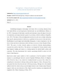 Nursing school essay format
