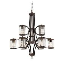 savoy house nora burnished bronze nine light chandelier