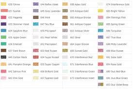Pearl Color Chart Pearl Ex Set 32 Colours