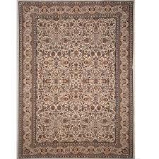 home dynamix super kashan ivory 12 ft x 16 ft indoor area rug