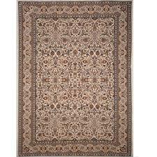 home dynamix super kashan ivory 12 ft x 16 ft indoor area rug