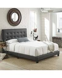 Boyd Sleep Boyd Sleep Murphy Upholstered Platform Bed Frame with Tufted Headboard: Faux Leather, Black, Full from Amazon | BHG.com Shop